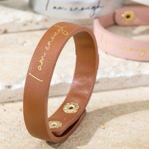 """""""I am Enough""""  Faux Leather Bracelet"""